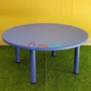 ban-nhua-hoc-sinh-mam-non-hinh-tron-pl0104-blue