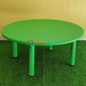 ban-nhua-hoc-sinh-mam-non-hinh-tron-pl0104-green