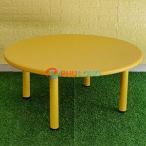 ban-nhua-hoc-sinh-mam-non-hinh-tron-pl0104-yellow